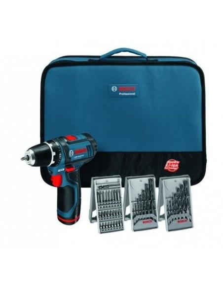 Professional Set Atornillador GSR 12V-15 + 39 Accesorios + 2 baterías de 2,0 Ah + Cargador en bolsa de transporte