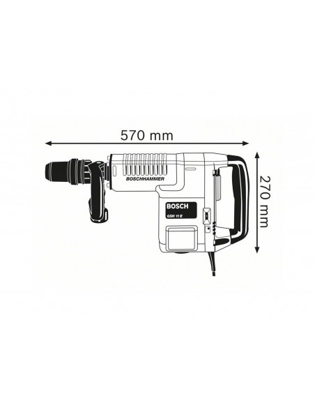 Martillo de percusión con SDS-max GSH 11 E