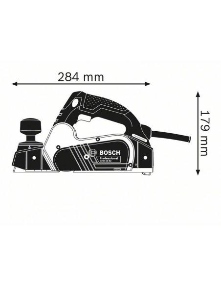 Dimensiones Cepillo eléctrico para madera BOSCH GHO 16-82 Professional